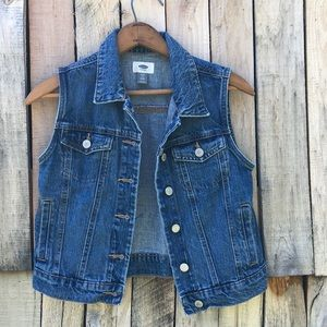Old Navy Girls XL Blue Denim Vest